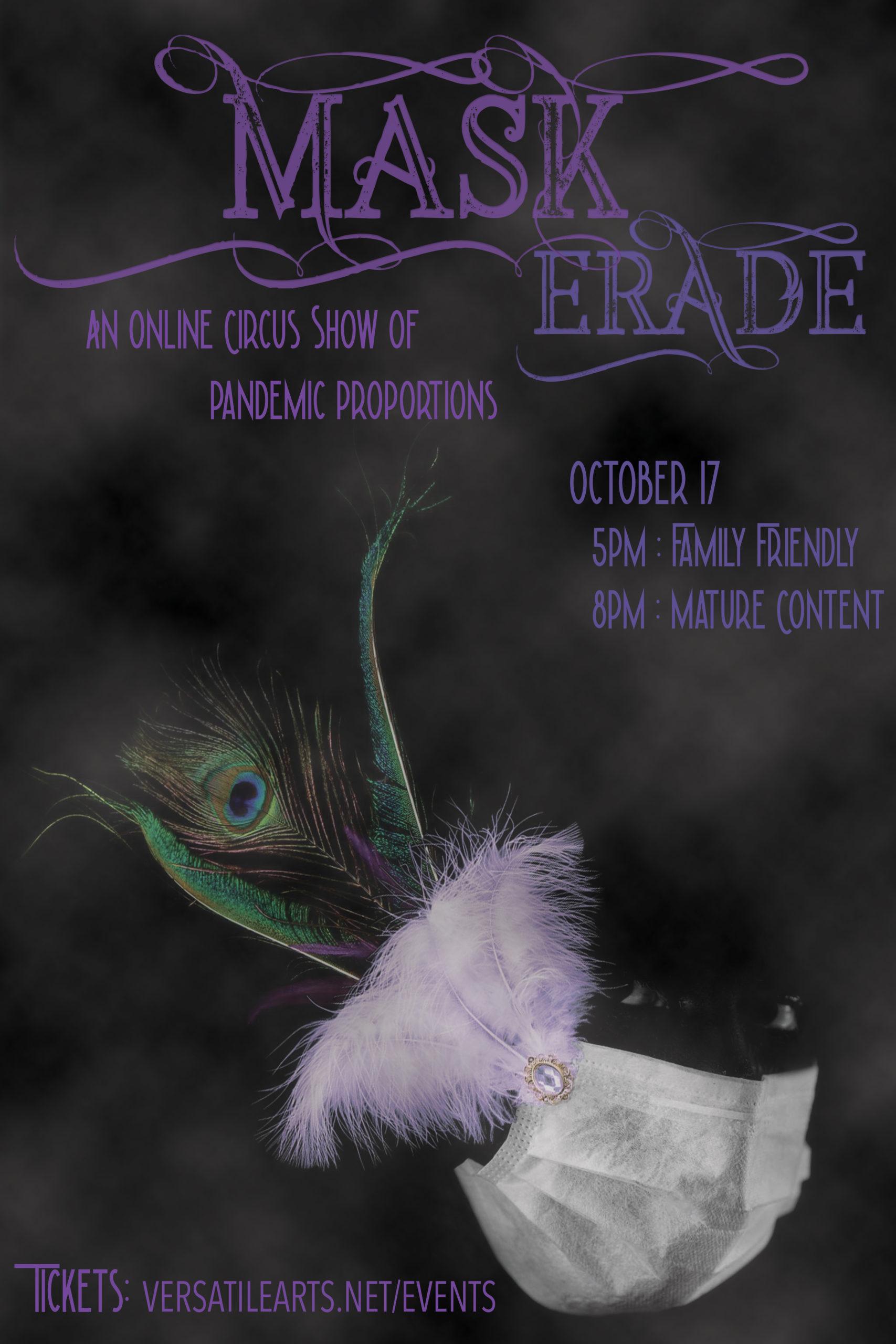 Virtual Versatile Arts Presents…Mask-erade